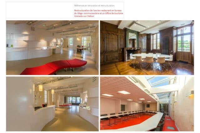 restructuration restaurant en bureau du siege communautaire et un office de tourisme du pays grenadois 2